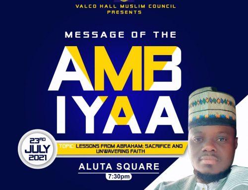 Message of the Ambiyaa!